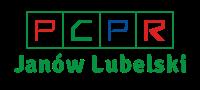 """Obrazek przedstawiający logotyp PCPR z napisem na dole: """"Janów Lubelski"""""""